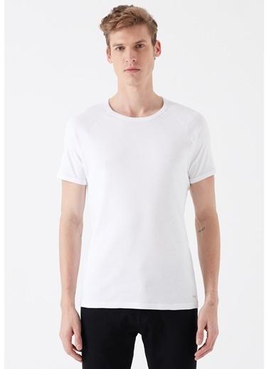 Mavi Erkek  Basic Tişört 6605622 Beyaz